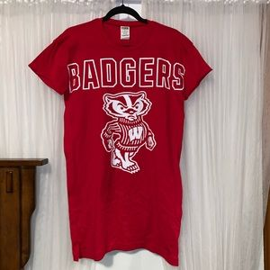 PINK Wisconsin Badgers Sleep Shirt - NWT